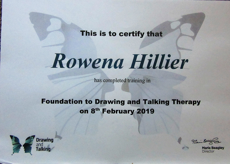 certificate for drawing and talking therapy